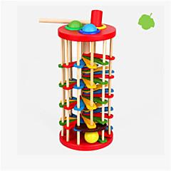 halpa -lasten puinen väri knock pallo pudota tikkaat vauva väri kognitiivisia 2-3-5 vuotias