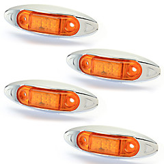 4 stuks brand side template 3 leds waterdichte geel licht voor voertuigen