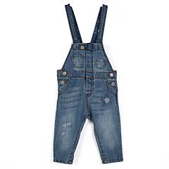 billige Jeans til piger-Pige Jeans Daglig Bomuld Alle årstider Pænt tøj Lyseblå