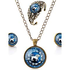 tanie Zestawy biżuterii-Dla obu płci Biżuteria Ustaw Zawierać Bransoletka Náušnice Naszyjniki - Cuff Vintage Na co dzień Rzeźniony minimalistyczny styl