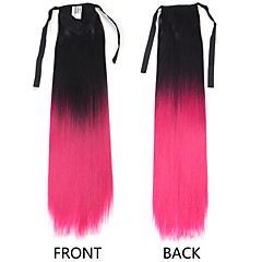 cheap Wigs & Hair Pieces-Neitsi Cross Type Human Hair Extensions Straight Ombre Ponytails Hair Piece Synthetic Hair M2-33# M4-30# M4-33#