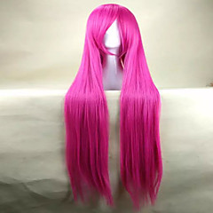 billiga Peruker och hårförlängning-Syntetiska peruker / Kostymperuker Rak Syntetiskt hår Rosa Peruk Dam Väldigt länge Kostym Peruk / Halloween Paryk / Karneval peruk