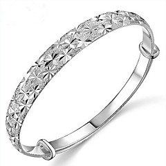 S925 Silver Star Shape Bangle for Women Wedding Party Jewelry Christmas Gifts