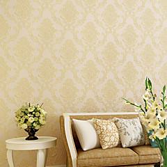 billige Tapet-Blomstret 3D Hjem Dekor Moderne Tapetsering, Ikke vævet papir Materiale Selvklebende bakgrunns, Tapet
