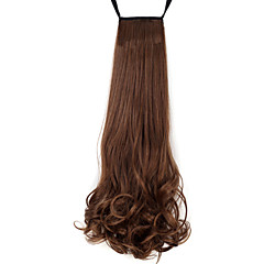 cheap Wigs & Hair Pieces-Ponytails Hair Piece Curly Classic Synthetic Hair 18 inch Medium Length Hair Extension Daily