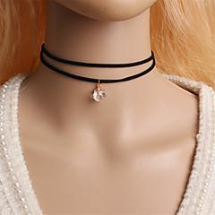 Dame Kort halskæde Tatovering Choker Cirkelformet Zirkonium Kvadratisk Zirconium Simuleret diamant Legering Tatovering Mode minimalistisk