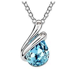 日常 女性用 合金 ネックレス クリスタル