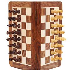 משחק לוח משחק שחמט צעצועים רמה מקצועית מיני נייד עץ מלא איכות גבוהה קלסי חתיכות