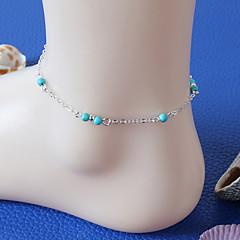 Dame Ankel/Armbånd Harpiks Turkis Legering Mote Vintage Håndlaget Personalisert kostyme smykker Smykker Til Fest Daglig Avslappet