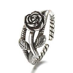 Anéis Vintage / Estilo Punk Diário / Casual Jóias Prata de Lei Anéis Grossos 1pç,Ajustável Prateado