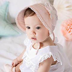 baratos Acessórios para Crianças-Para Meninas Para Meninos Capéus e Bonés Todas as Estações Renda, Bandanas - Branco Rosa claro