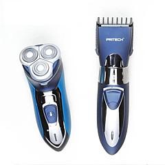 billige Barbering og hårfjerning-Manuell Elektrisk Barbering tilbehør Roterende Barbermaskin Vanntett Ergonomisk Design LED Lys Rask lading Lav lyd Smøremiddel Dispenser