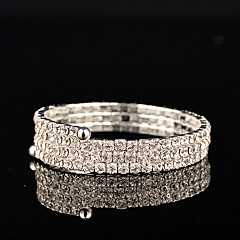 cheap Bracelets-Women's Rhinestone Persona Beads Collection Silver Jewelry Wedding Party Anniversary Birthday Engagement Gift Daily Casual Office & Career
