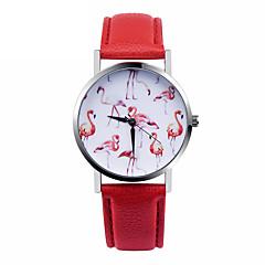 בגדי ריקוד נשים שעוני אופנה קווארץ שעונים יום יומיים עור להקה לבן אדום