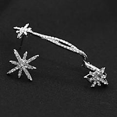 Damskie Modny Niedopasowanie Kryształ górski Stop Flower Shape Płatek śniegu Biżuteria Na Impreza Codzienny Casual
