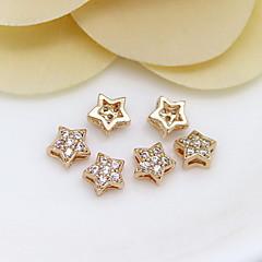 DIY jóias 24k Mini Gold Star