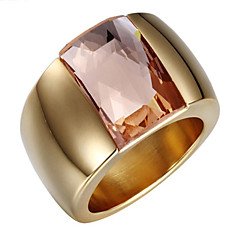 cheap Rings-Women's Zircon Cubic Zirconia 18K Gold Band Ring - Luxury Vintage Cute Party Work Casual Open Fashion Adorable Adjustable Crossover For
