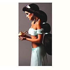 billige Kostymeparykk-Syntetiske parykker / Kostymeparykker Rett Syntetisk hår Svart Parykk Dame Lang Halloween parykk / Karneval Parykk Lokkløs