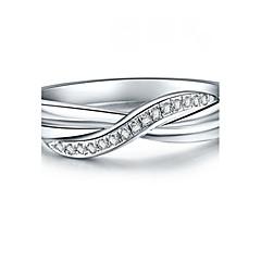Ringer Mote Bryllup Smykker Dame uttalelse Ringe 1 stk,5 6 7 8 9 8½ 9½ 4 Sølv