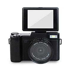 Digital Kamera 720P 1080P Anti-Sjokk Smil Deteksjon Innebygd Blitz Vippbar LCD Svart 2.8