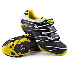 billige Sykkelsko-Tiebao® Voksne Mountain Bike-sko Karbonfiber Vanntett, Anti-Skli, Demping Sykling Grønn / Svart / Rød / Svart / Oransje Herre