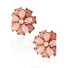 cheap Earrings-Women's 1set Crystal Imitation Pearl Stylish Alloy Jewelry Pink Special Occasion Party / Evening Costume Jewelry