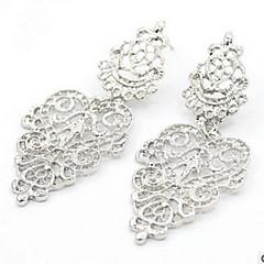 女性 ドロップイヤリング ファッション 真珠 合金 円形 リーフ ジュエリー 用途 パーティー 日常