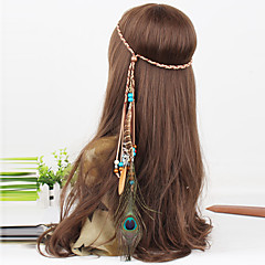 naisten bohemia helmiä sulka riipus kutoa headbands 1 kpl