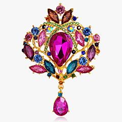 Dame Nåler imitasjon Diamond Hvit Rose Rød Blå Smykker Daglig Avslappet