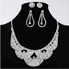 Women's Rhinestone Wedding Party Special Occasion Anniversary Engagement Alloy Earrings Necklaces
