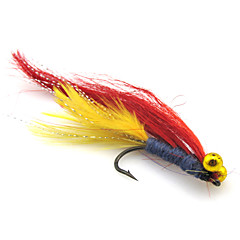 billiga Fiskbeten och flugor-4 st Fiskbete Flugor Mjukt bete Fjäder Nylon Kolstål Sjöfiske Flugfiske Generellt fiske Drag-fiske