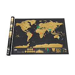 cheap -Scratch Map Scratch Off Map of the World for Travelers Toys Map Kids Adults' 1 Pieces