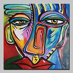 billiga Oljemålningar-Hang målad oljemålning HANDMÅLAD - Abstrakt Klassisk Med Ram / Sträckt kanfas