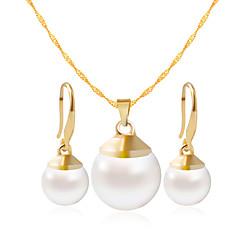 Χαμηλού Κόστους Σετ Κοσμημάτων-Γυναικεία Κοσμήματα Σετ - Περιλαμβάνω Κολιέ / βραχιόλι Χρυσό / Άσπρο Για Γάμου Πάρτι Καθημερινά / Causal
