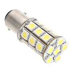 2stk py21w P21 / 5W 1157/7443 27smd 5050 ledet pære hvit lampe bil bremselysene baklys trafikklys