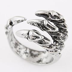 טבעות רצועה סגסוגת תכשיטים אופנתי וינטאג' כסף תכשיטים יומי קזו'אל 1pc