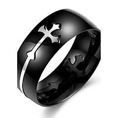 男性用 指輪 ジュエリー 十字架 コスチュームジュエリー ステンレス クロス ジュエリー 用途 オフィス/キャリア 日常