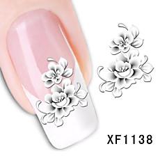 baratos -ottery flores sedutoras unhas transferências arte adesivos DIY água decalques nail art etiqueta ponta manicure decalque