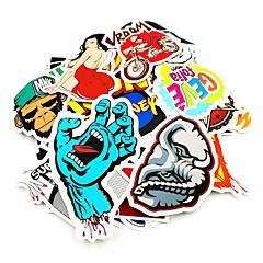 ziqiao 100 stuks / pak willekeurige muziekfilm vinyl skateboard gitaar travel case sticker autooverdrukplaatje leuke stickers