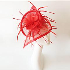cheap Party Headpieces-Flax Feather Fascinators Headpiece Elegant Classical Feminine Style