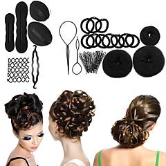 8 ניצן לקליעת קסם סוג ראש סופגניות דיסק כדור בראש כלי ספרות שיער צלחת עבור אביזרי שיער לנשים