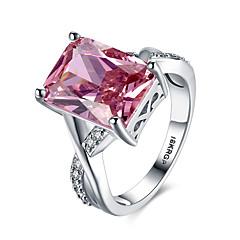 billige Motering-Dame Syntetisk Ruby Band Ring / Statement Ring - Sølv, Zirkonium, Fuskediamant Hjerte, Kjærlighed Personalisert, Mote 6 / 7 / 8 Rød Til Bryllup / Fest / Engasjement