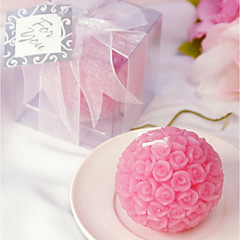 Pink Rose Candle Favors 6.5 x 6.5 x 6.5 cm/box Bridesmaids / Bachelorette / Rustic Wedding Keepsakes