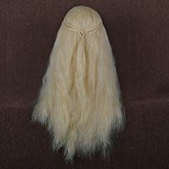 billiga Peruker och hårförlängning-Dam Syntetiska peruker Lång Väldigt länge Lösa vågor Beige Kostym Peruk kostym peruker