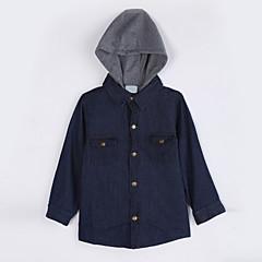 baratos Roupas de Meninas-Unisexo Suéter & Cardigan Diário Sólido Outono Algodão Azul