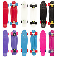 22 Inch Cruisers Skateboard PU Black Purple Red Blue Pink
