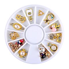 1 wheel (12pcs rhinestones) Nail Art Decoration горный хрусталь жемчуг макияж Косметические Nail Art Design