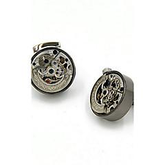 kol düğmeleri 2pcssolid altın / gri moda kol düğmesi erkek takı