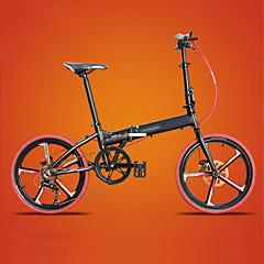 אופני הרים רכיבת אופניים 7 מהיר 20 אינץ' ילדים לשני המינים / גברים / נשים דיסק בלימה כפול מזלג קפיצים קונכי רגיל סגסוגת אלומיניום שחור