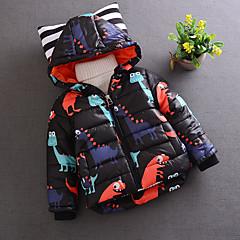 tanie Odzież dla chłopców-Dzieci Dla chłopców Nadruk Długi rękaw Bawełna Kurtka / płaszcz